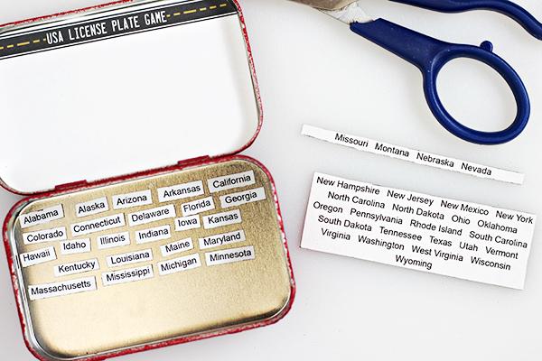DIY Mini License Plate Game - Free Printable