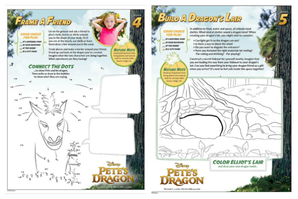 Free Printable Pete's Dragon Activity Sheets