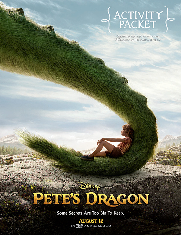 Free Printable Pete's Dragon Activity Sheets from Disney