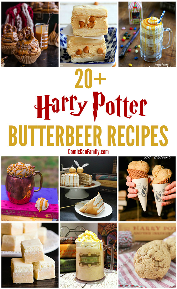 An awesome list of the very best Harry Potter butterbeer recipes that's sure to please fans! Everything from copycat version of the popular drink at the Wizarding World of Harry Potter at Universal Studios, to butterbeer inspired dessert recipes for cakes, candies, cookies, and more.