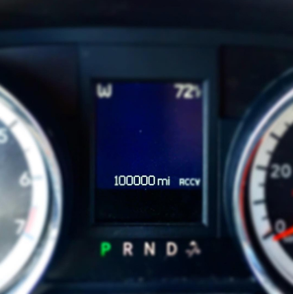 Hitting 100,000 miles on our Dodge Caravan