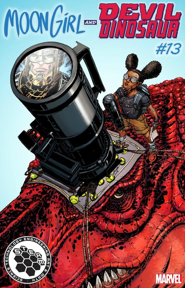 Marvel Comics STEAM Variant: Moon Girl and Devil Dinosaur #13 by Joyce Chin