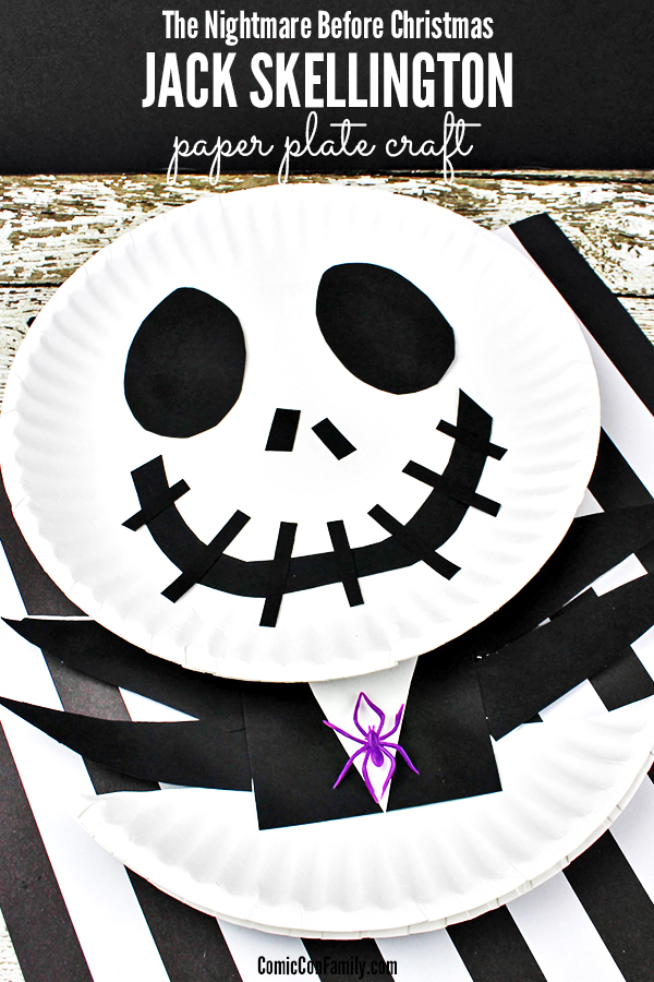 Jack Skellington Paper Plate Craft - The Nightmare Before Christmas