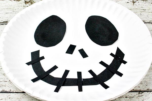 Jack Skellington Paper Plate Craft for Kids