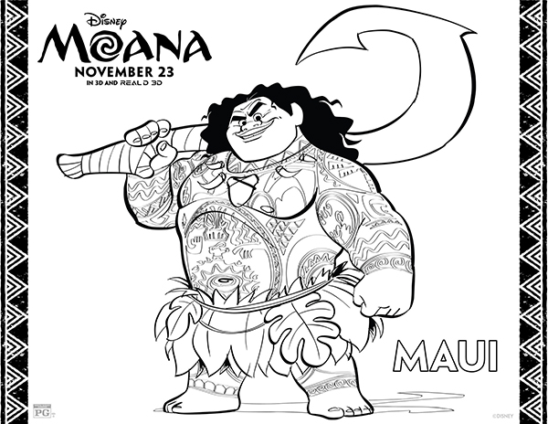 free printables disney moana coloring pages - Coloring Pg