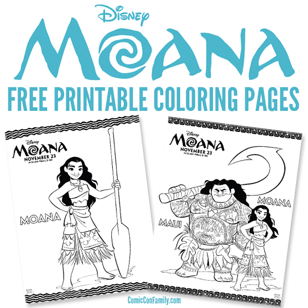 image about Moana Coloring Pages Printable referred to as Cost-free Printables: Disney Moana Coloring Web pages - Comedian Con Loved ones