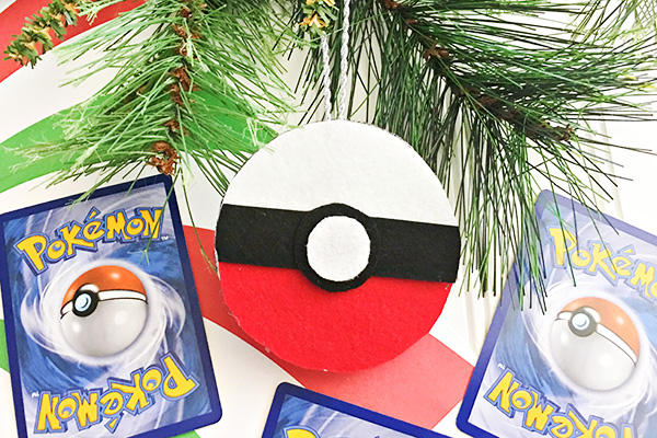 Felt Pokeball Christmas Ornament Craft