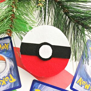 Pokemon Pokeball Christmas Ornament Craft