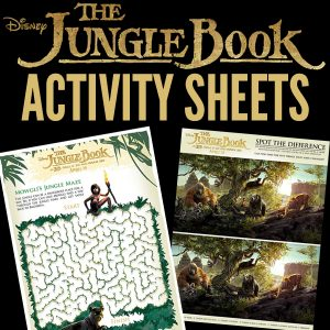 Free Printables: Disney's The Jungle Book Activity Sheets
