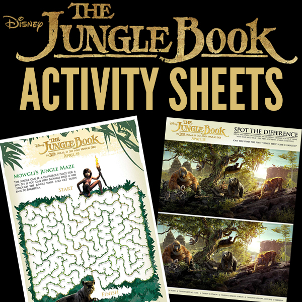 Free Printable Disney The Jungle Book Activity Sheets