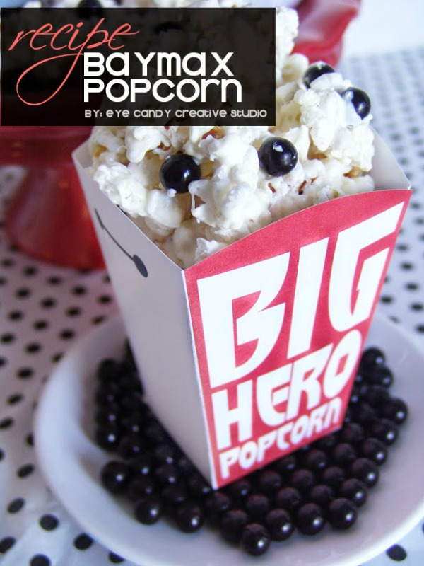 Baymax Popcorn Recipe
