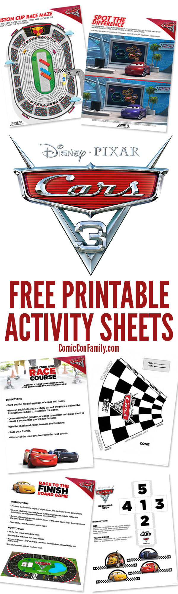 Cars 3 Free Printable Activity Sheets 1