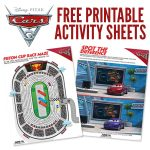 Free Printables: Cars 3 Activity Sheets