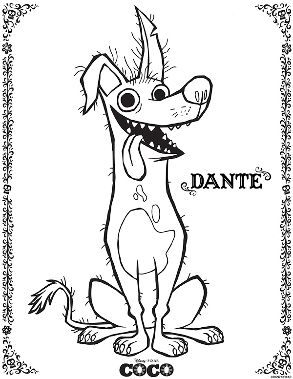 Disney Pixar Coco Coloring Sheets - Dante