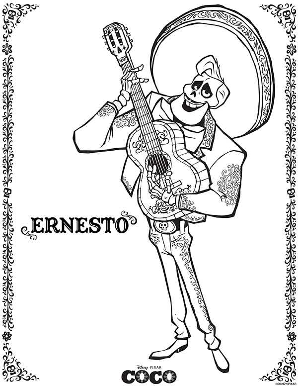 Free Printables Disney Pixar Coco Coloring Pages Comic