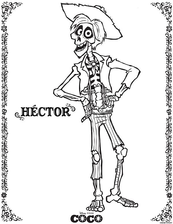 Disney Pixar Coco Coloring Sheets - Hector