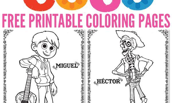 Free Printables: Disney/Pixar COCO Coloring Pages