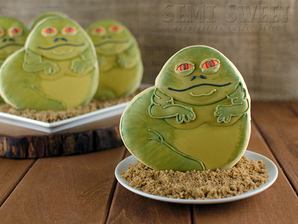 Jabba the Hutt Cookies Recipe by Semi Sweet Designs