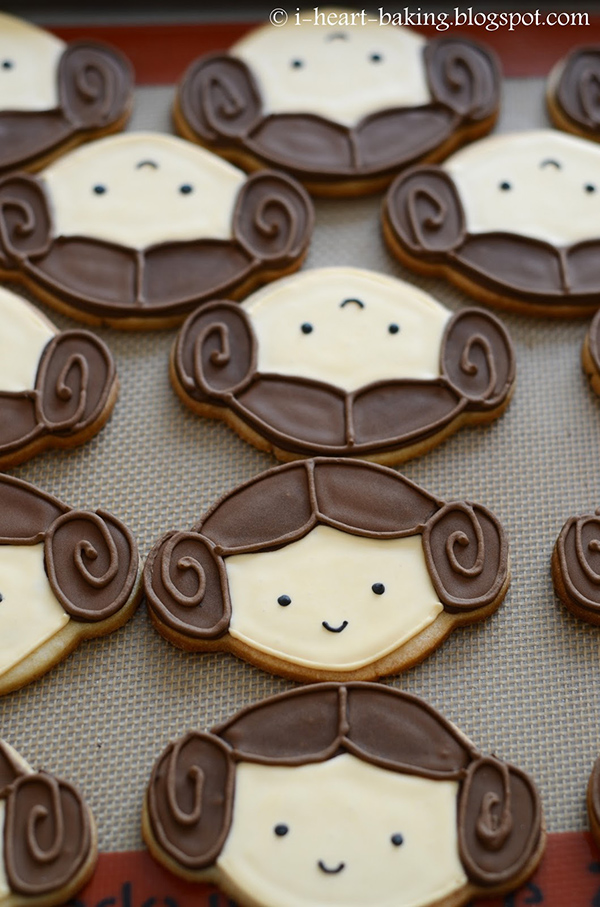 Princess Leia Cookies Recipe by I Heart Baking