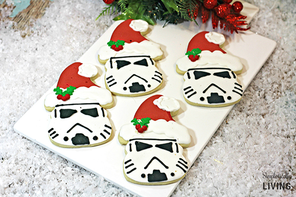Santa Storm Trooper Cookies by Simplistically Living