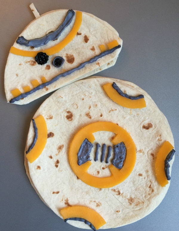 Star Wars BB8 Droid Quesadillas by Totally the Bomb