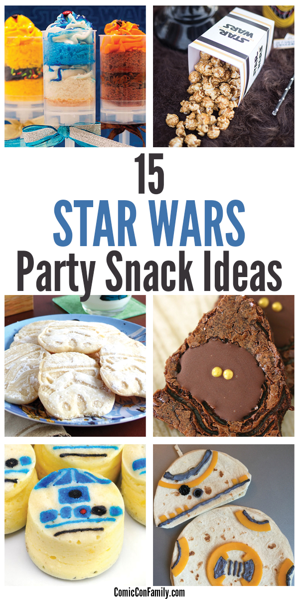 Looking for DIY Star Wars Party Snack Ideas? We've compiled a list of the best party snacks that you can make for a special birthday, celebration, or for the ultimate Star Wars movie night!