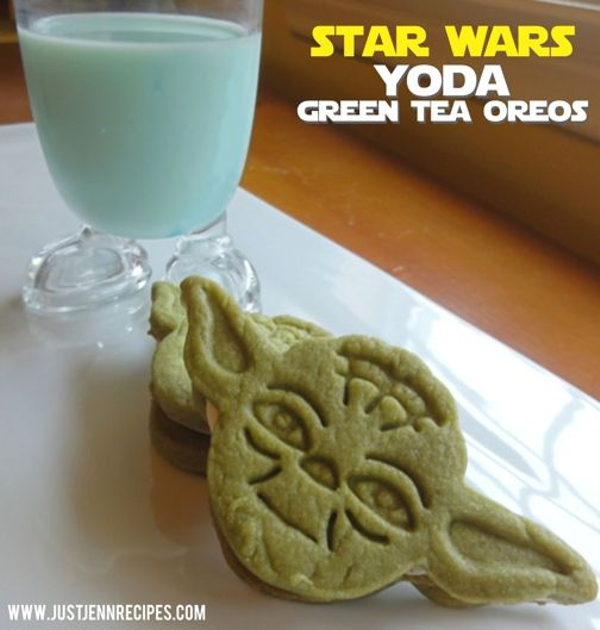 Yoda Cookie Sandwiches by Just Jenn Recipes