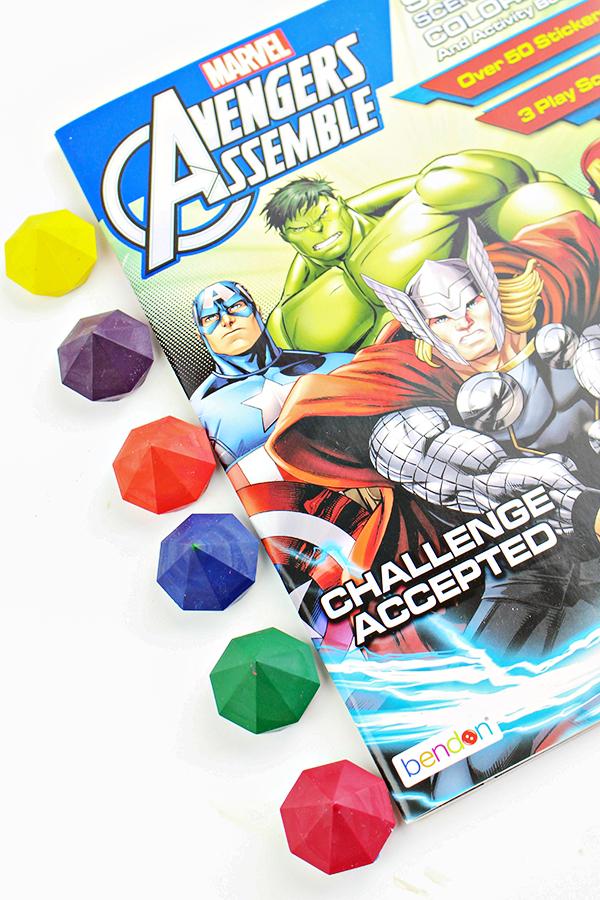 DIY Avengers Infinity Stone Crayons