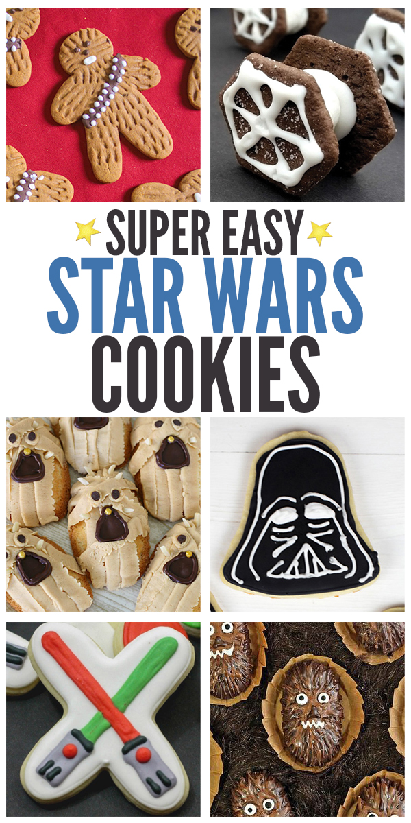 No fancy decorating skills needed here! We're sharing over 10 easy Star Wars cookies recipes that celebrate the Star Wars!