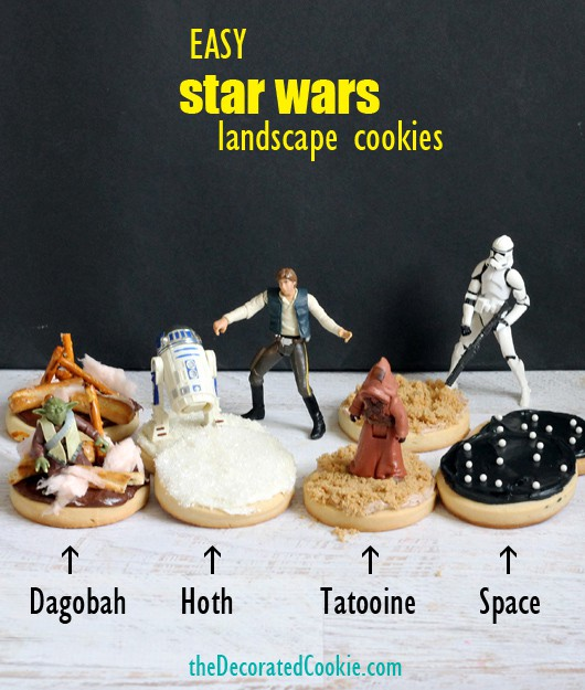 Easy Star Wars Landscape Cookies by The Decorated Cookie