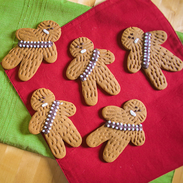 Easy Gingerbread Wookiee Cookies by Sugared Nerd