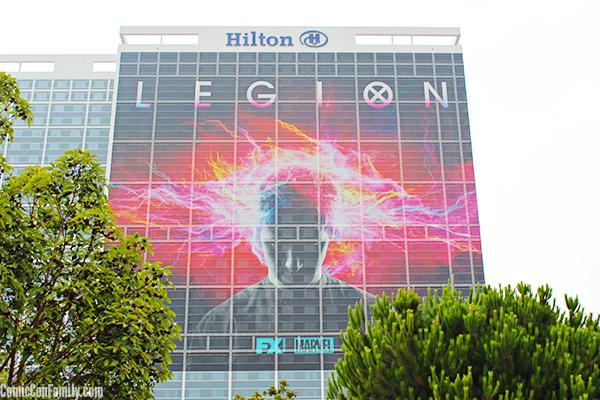 Hilton San Diego Bayfront Hotel Wrap for Comic-Con 2017: LEGION