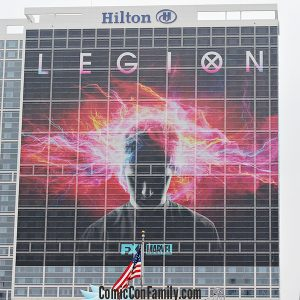 Hilton San Diego Bayfront Hotel Wrap for Comic-Con 2017: LEGION