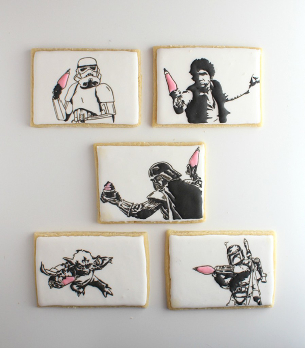 Mixed Media Star Wars Cookie Art by The Simple Sweet Life