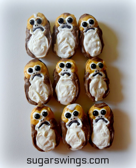 No-Bake Star Wars Porg Cookies by Sugar Swings