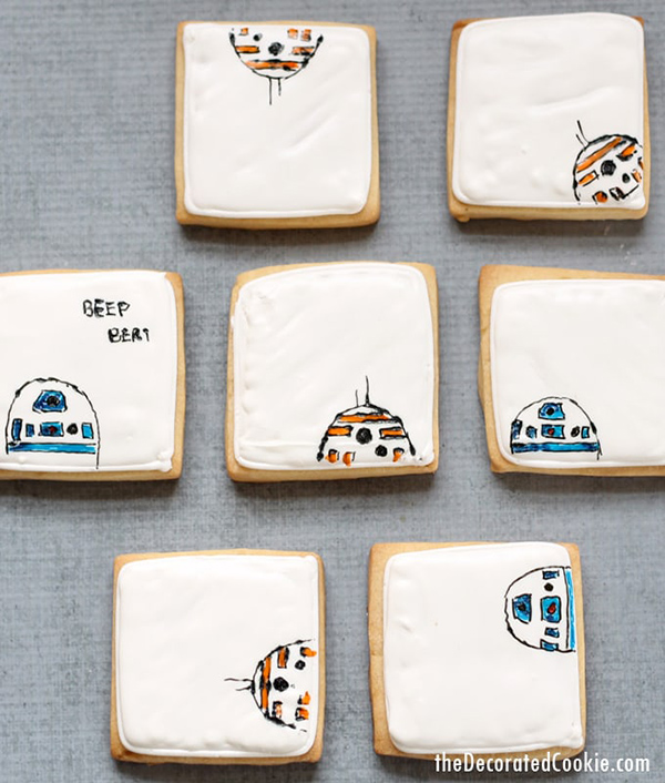 Star Wars Droid Cookies by The Decorated Cookie