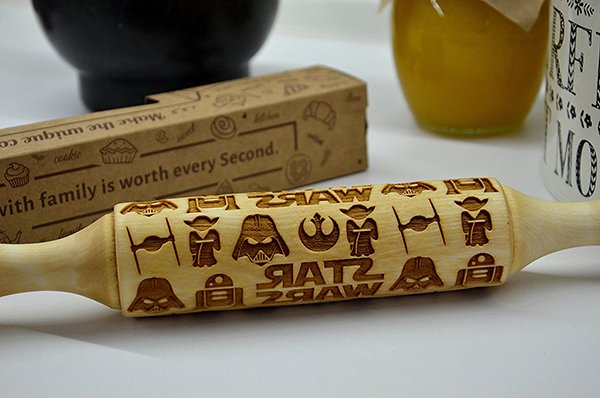Star Wars Embossed Rolling Pin for Cookies
