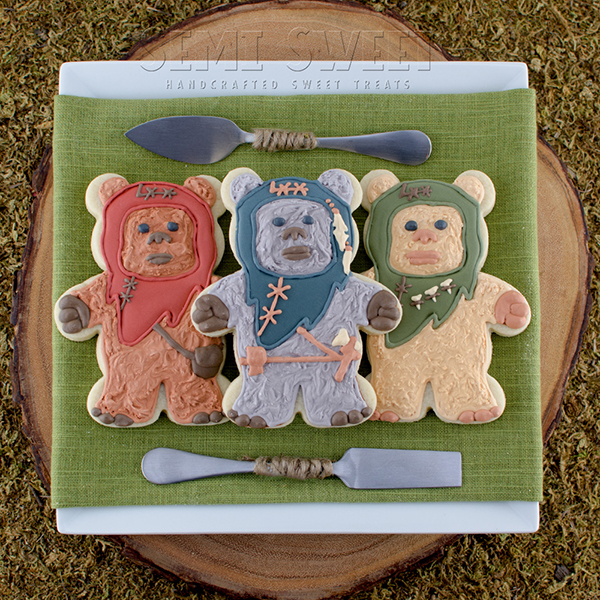 Star Wars Ewok Cookies by Semi Sweet Designs