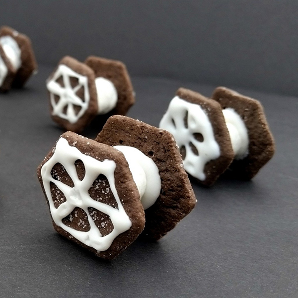 Easy Tie Fighter Cookies by Celebrating Family