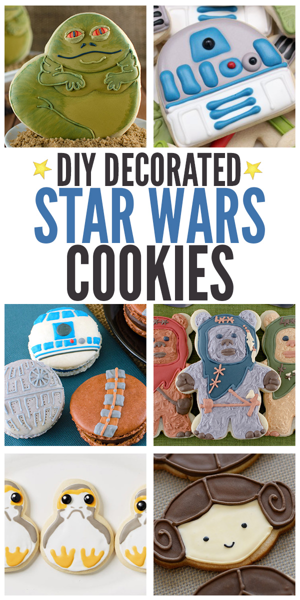 Collection of the best DIY Decorated Star Wars Cookies in the galaxy! All of these cookies include step-by-step instructions so that you can make them in your own kitchen for Star War parties, movie nights, and more!