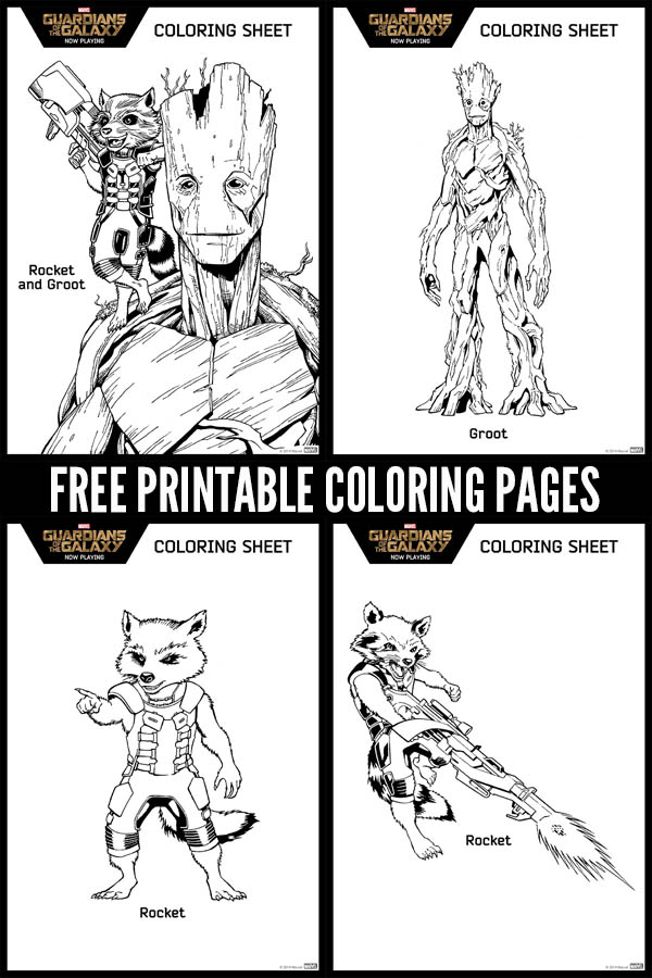 Free Printable Marvel Guardians