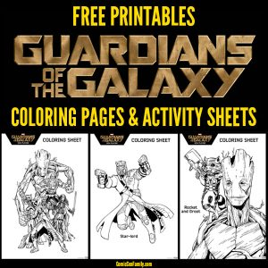 Free Printable: Marvel Guardians of the Galaxy Coloring Pages and Activity Sheets