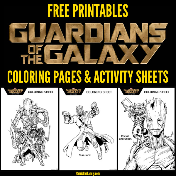 Free Printable: Guardians of the Galaxy Coloring Pages and Activity Sheets