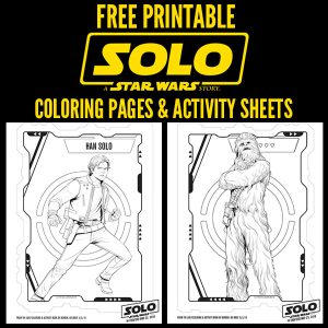 Free Printable - SOLO A Star Wars Story Coloring Pages and Activity Sheets