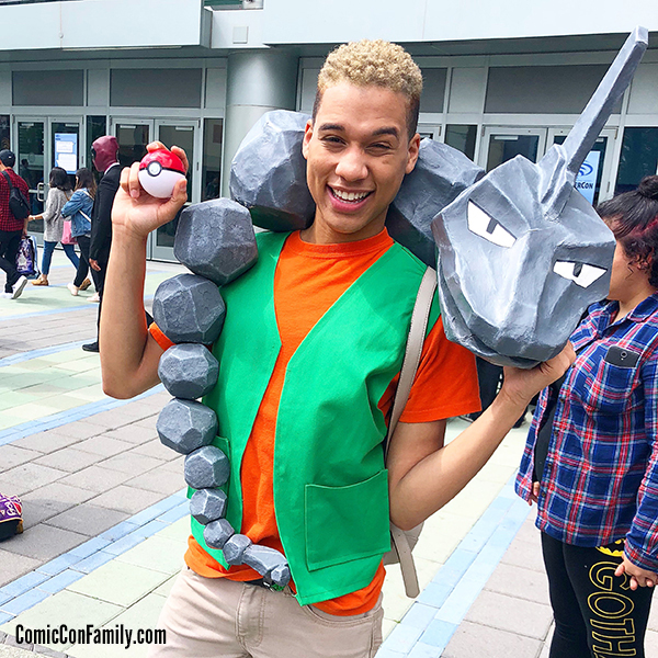 Brock and Onix Pokemon Cosplay at WonderCon 2018