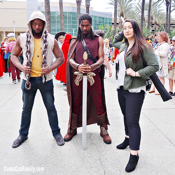 Luke Cage and Heimdall and Colleen Wing Cosplay at WonderCon 2018