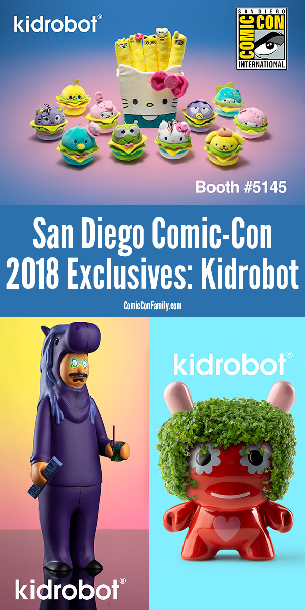 The San Diego Comic-Con 2018 Exclusives from Kidrobot - featuring Sanrio, Bob's Burgers, and  Jeremyville #SDCC #SDCC2018