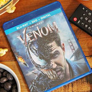 Venom Movie Night + Free Printable Venom Word Search Gift Wrap