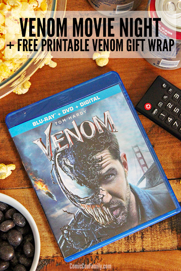 Giving the anti-hero movie, Venom, as a gift? Get our FREE PRINTABLE VENOM MOVIE WORD SEARCH GIFT WRAPto make the gifting even more fun!