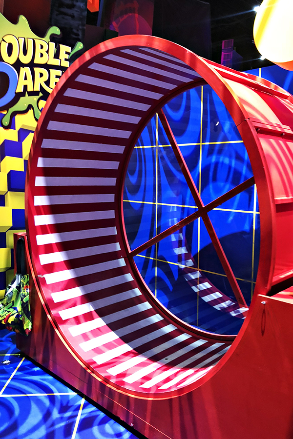 Nickelodeon Booth at San Diego Comic-Con 2018 - Double Dare Human Hamster Wheel